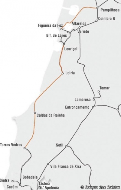 linha do oeste mapa Linha do Oeste e Ramal da Figueira da Foz: a complementaridade  linha do oeste mapa
